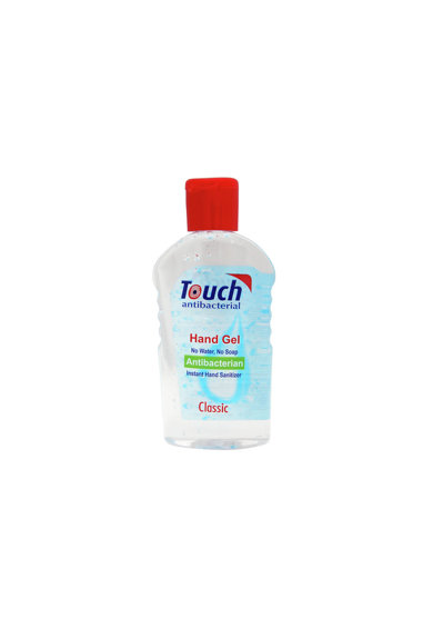 Touch Gel dezinfectant pentru maini  Clasic cu efect antibacterian. Femei