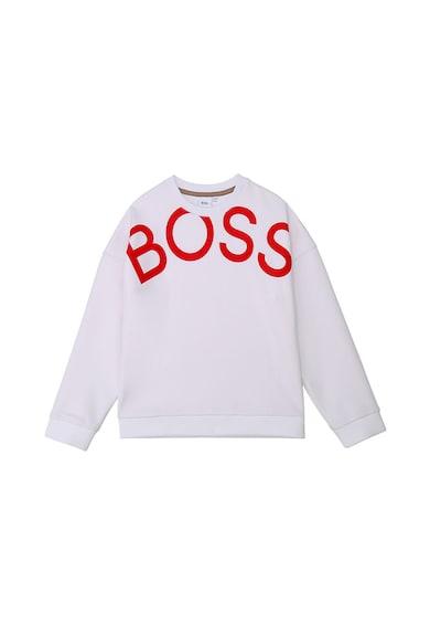 Boss Hugo Boss Pulóver fémes hatású logómintával Lány