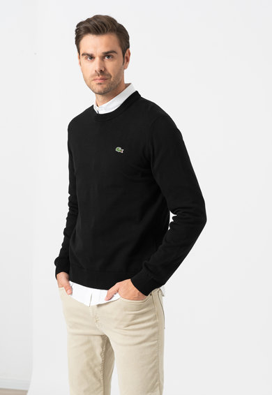 Lacoste Kerek nyakú organikuspamut pulóver férfi