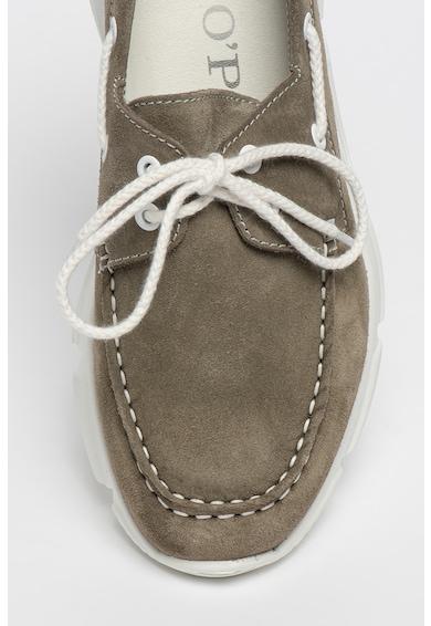 Marc O'Polo Pantofi loafer de piele intoarsa cu snur pentru ajustare Barbati