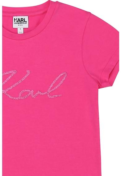 Karl Lagerfeld Modáltartalmú póló csillámos logómintával Lány