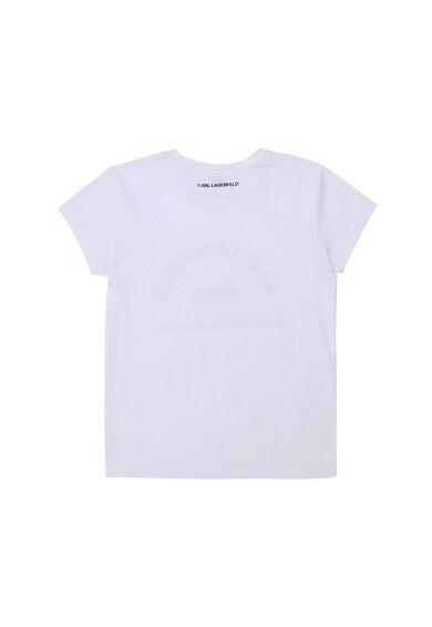 Karl Lagerfeld Modáltartalmú póló logómintával Lány
