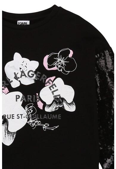 Karl Lagerfeld Pulóver flitteres ujjakkal Lány