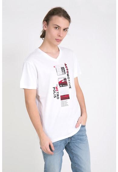 Big Star Mintás póló V alakú nyakrésszel férfi