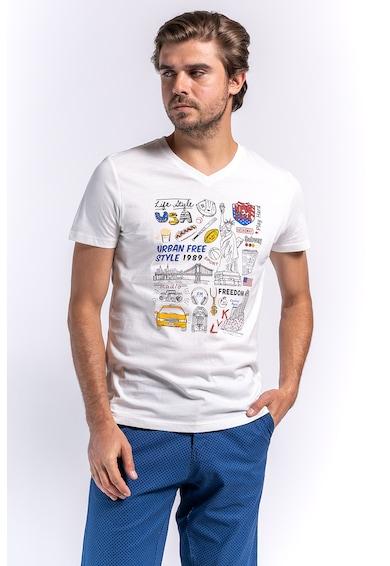 Kenvelo Tricou cu text si imprimeu grafic Barbati