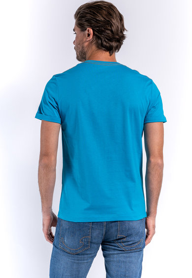 Kenvelo Tricou de bumbac cu imprimeu text 1 Barbati
