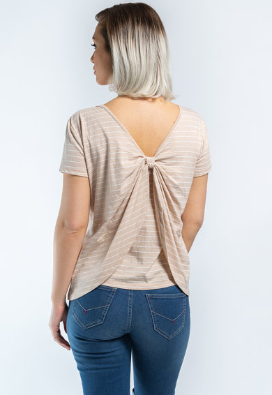 Kenvelo Tricou cu detaliu innodat pe partea din spate Femei