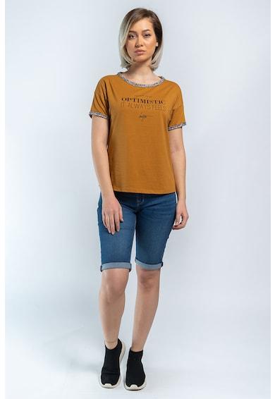 Kenvelo Tricou cu imprimeu text 20107321 Femei