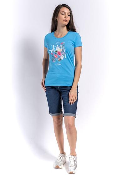 Kenvelo Tricou cu imprimeu floral si text Femei