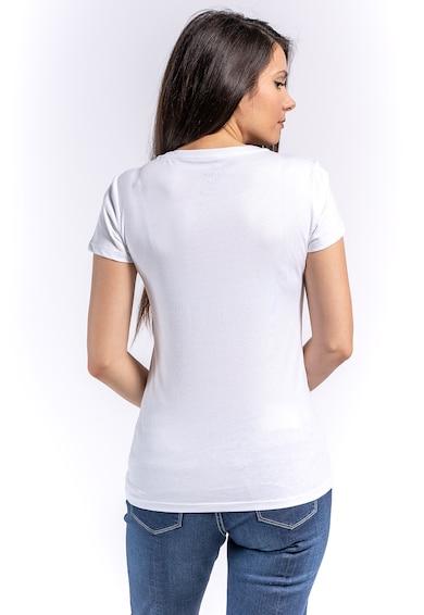 Kenvelo Tricou cu imprimeu text contrastant Femei
