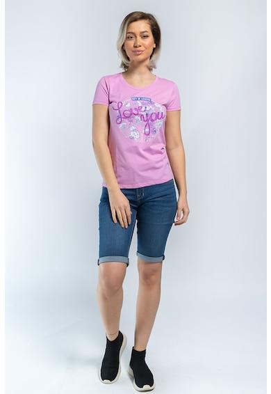 Kenvelo Virágmintás és feliratos póló 20107338 női