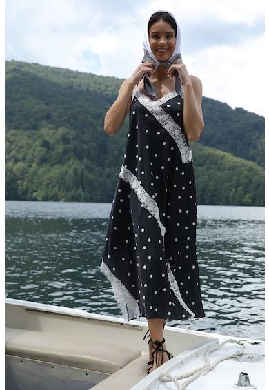 MIAU by Clara Rotescu Skaya selyemtartamú aszimmetrikus ruha női