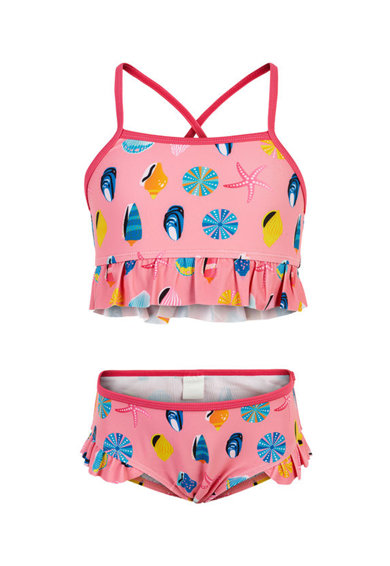 Color Kids Costum de baie cu volane Fete