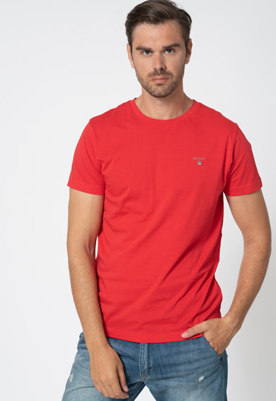 Gant Tricou cu broderie logo discreta Barbati