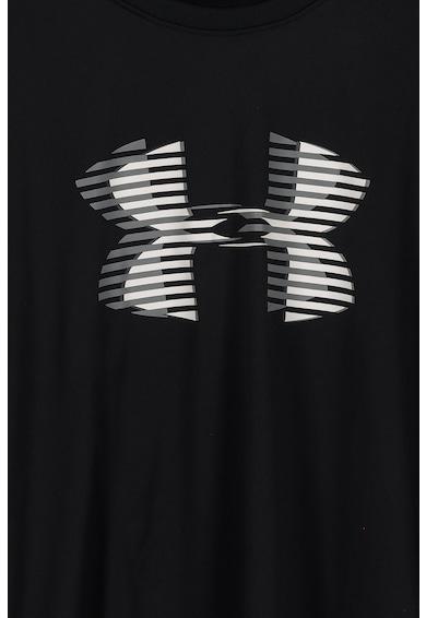 Under Armour Tricou cu imprimeu logo, pentru fitness Baieti
