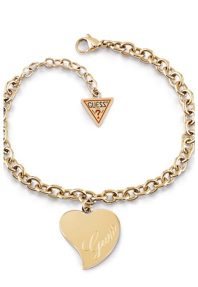 Guess Bratara cu talisman in forma de inima Femei
