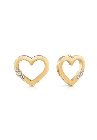 Guess Cercei cu tija in forma de inima si cristale Swarovski Femei