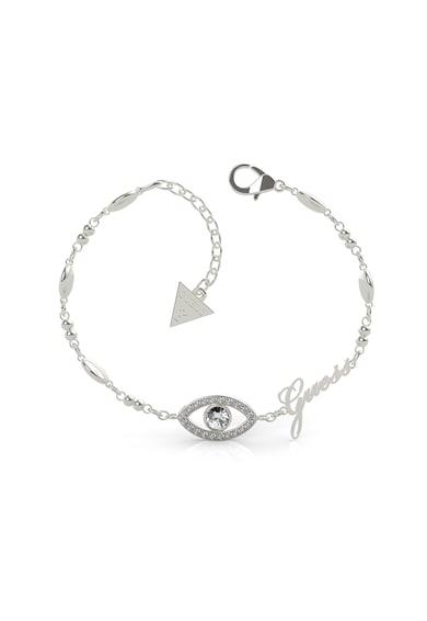 Guess Bratara cu cristale Swarovski si talisman logo Femei