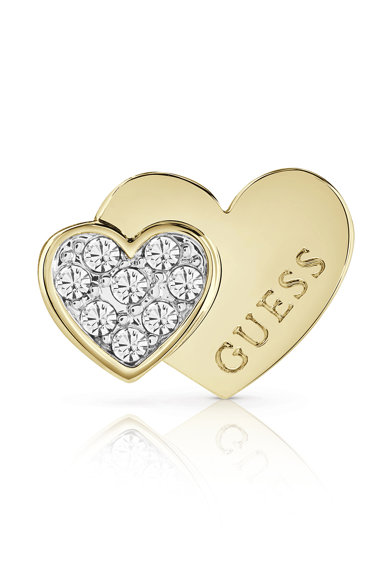 Guess Cercei in forma de inima dubla, cu tija si decorati cu cristale Swarovski Femei
