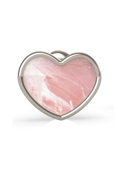 Guess Cercei in forma de inima, cu aspect Mother of Pearl Femei