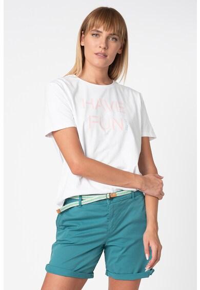 Esprit Тениска с овално деколте и надписи Жени