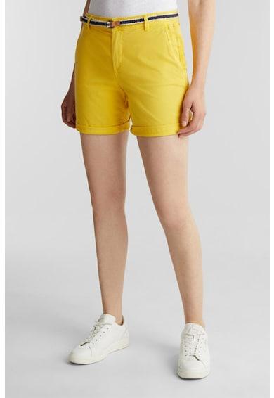 Esprit Pantaloni scurti chino cu o curea cu model impletit Femei