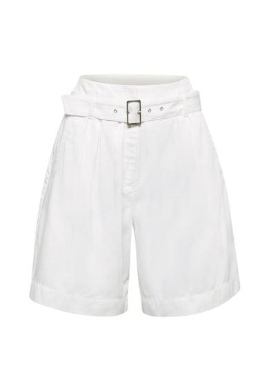 Esprit Pantaloni scurti din bumbac organic cu talie inalta si curea Femei