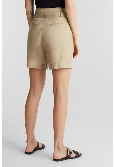 Esprit Magas derekú organikuspamut rövidnadrág övvel női