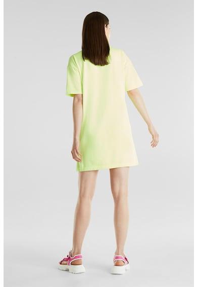 EDC by Esprit Rochie mini de bumbac organic, cu slituri laterale Femei