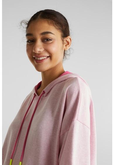 EDC by Esprit Laza fazonú finomkötött organikuspamut pulóver kapucnival női