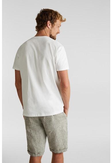 Esprit Tricou slim fit de bumbac organic, cu imprimeu grafic Barbati