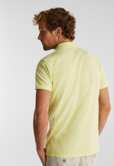Esprit Szűk fazonú organikuspamut-tartalmú galléros póló férfi