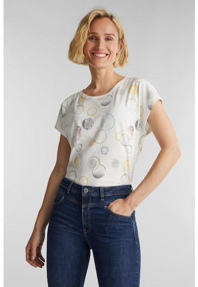 Esprit Tricou din bumbac organic, cu imprimeu grafic Femei
