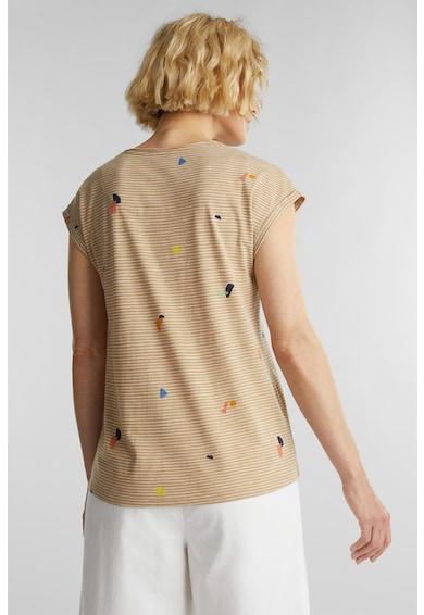 Esprit Csíkos póló absztrakt mintával női