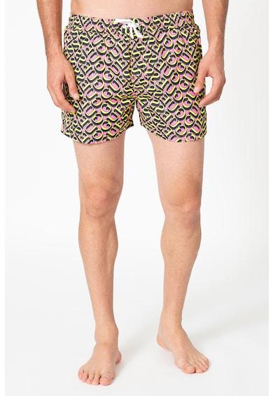 Guess Pantaloni scurti de baie cu model logo Barbati