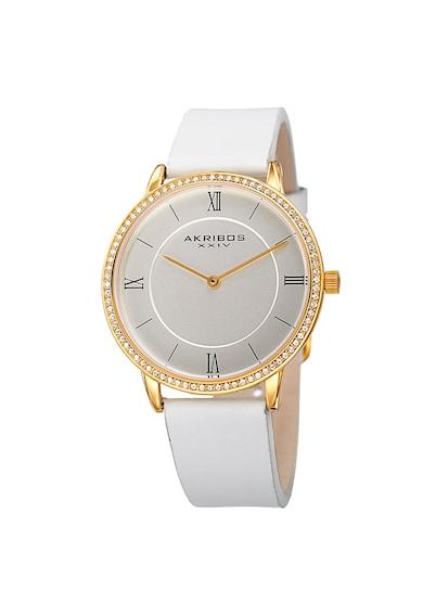 AKRIBOS XXIV Ceas analog decorat cu cristale Femei