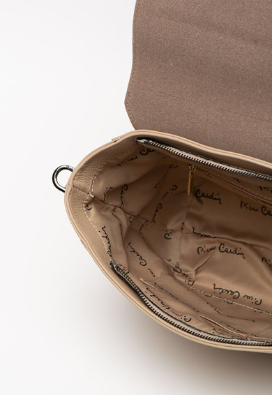 Pierre Cardin Geanta din piele, cu bareta de umar si aspect texturat Dollaro Femei