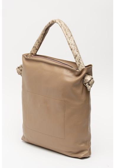 Pierre Cardin Tote fazonú műbőr táska kígyóbőr hatású részletekkel női