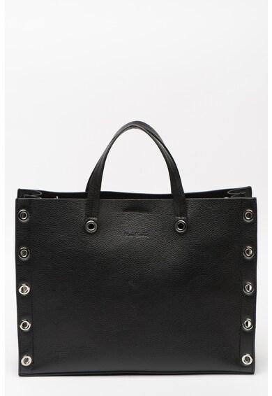 Pierre Cardin Bőr hátizsák fémkarikás lyukakkal női
