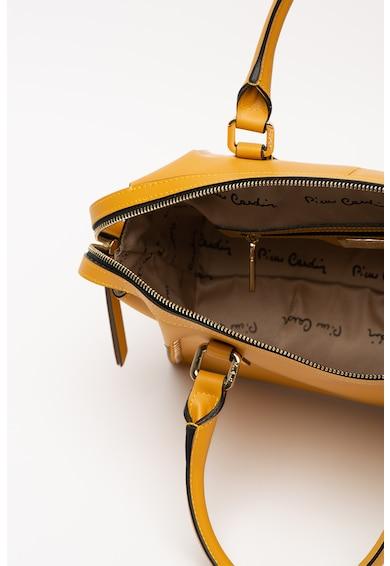 Pierre Cardin Geanta din piele, cu bareta de umar si aplicatii cu nituri Ruga Femei