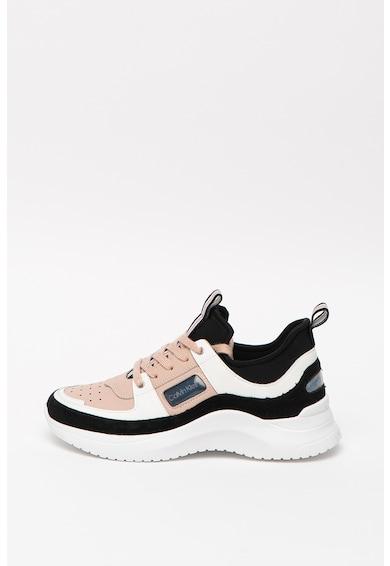 CALVIN KLEIN Ultra colorblock dizájnos sneaker bőr részletekkel női