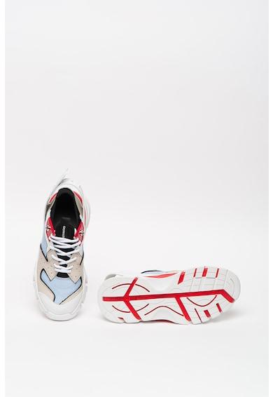 CALVIN KLEIN JEANS Pantofi sport wedge cu detalii de piele Femei