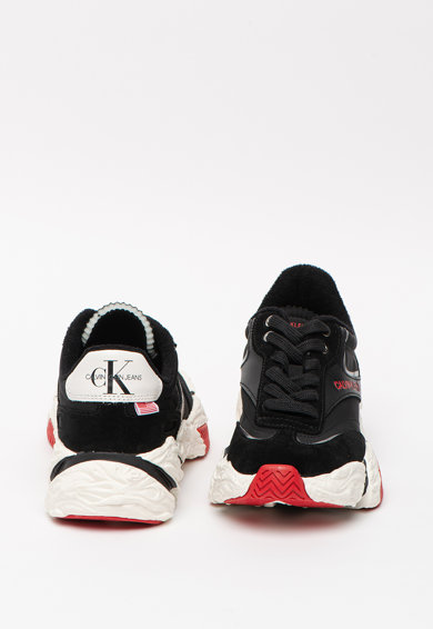 CALVIN KLEIN JEANS CALVIN KLEIN, Pantofi sport cu aspect masiv si detalii din piele Sigma Femei
