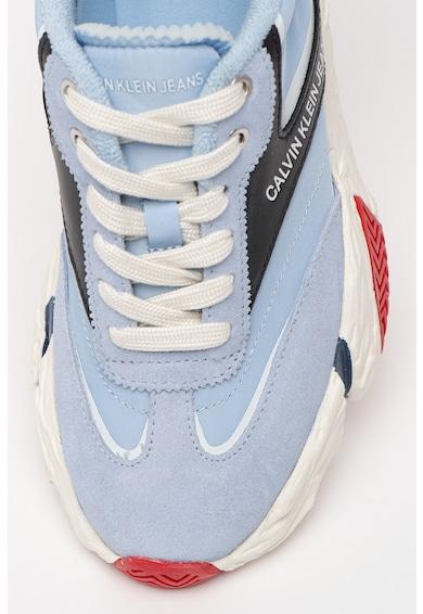 CALVIN KLEIN JEANS CALVIN KLEIN, Pantofi sport de piele si material textil, cu aspect masiv Sigma Femei