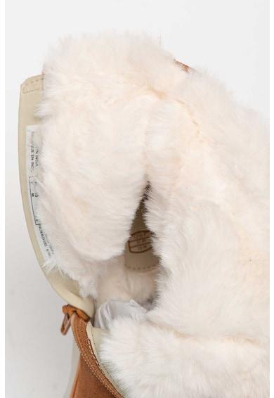 Clarks Cizme de piele intoarsa cu captuseala de blana sintetica Crown Piper Fete