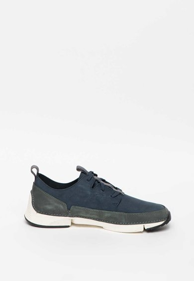 Clarks Pantofi sport de piele nabuc cu garnitura contrastanta Tri Solar Barbati