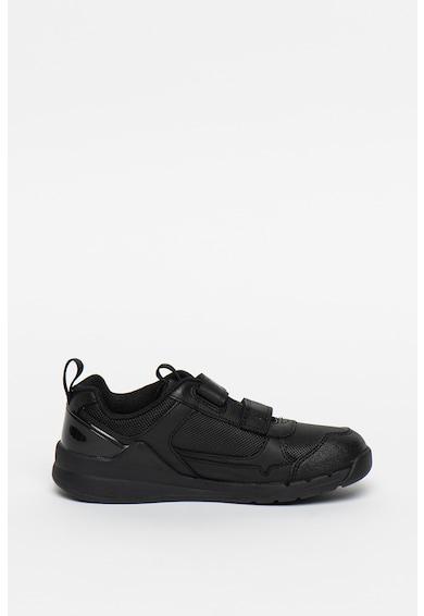 Clarks Pantofi sport de piele cu garnituri de plasa Orbit Sprint Fete