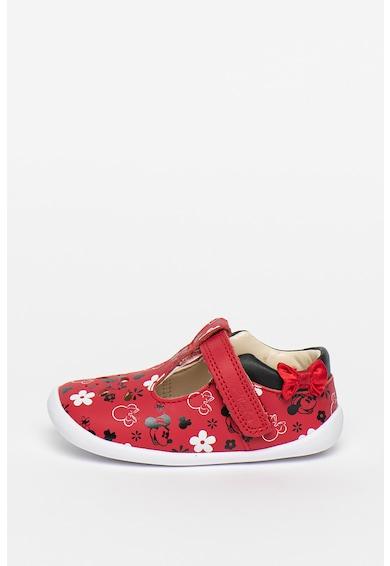 Clarks Pantofi de piele cu model Minnie Mouse Roamer Bow Fete