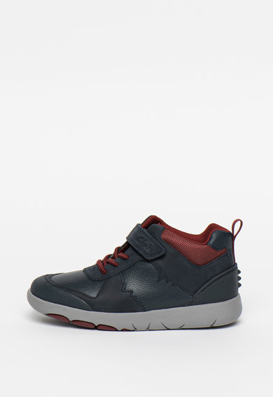 Clarks Pantofi sport mid-high de piele Rex Park Fete