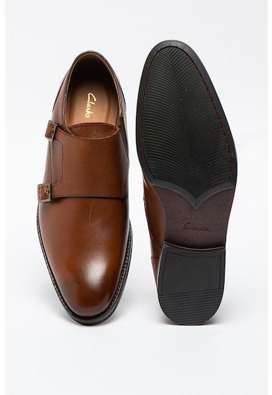 Clarks Pantofi monk de piele Citistride Barbati